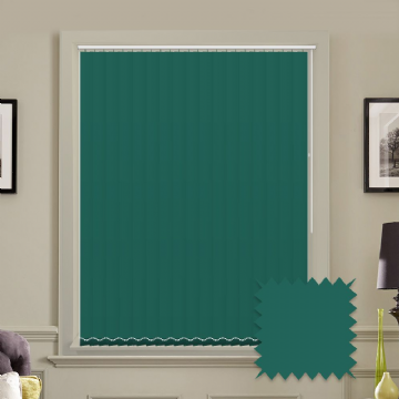 Unicolour Glade 5 inch Teal Vertical Blinds - made to measure